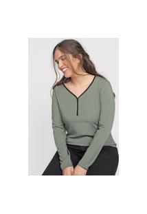 Blusa Cativa Lisa Verde