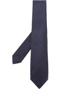 Kiton Gravata Com Estampa - Azul