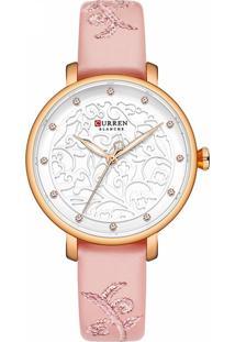 Relógio Curren Analógico C9046L Rosa