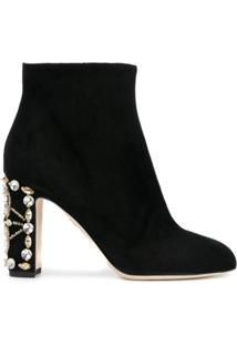 Dolce & Gabbana Bota Com Aplicação De Cristal - Preto