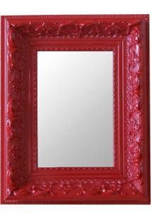 Espelho Moldura Rococó Raso 16147 Vermelho Art Shop