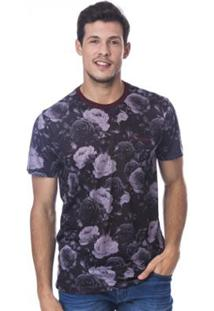 Camiseta Long Island Roses - Masculino-Bordô