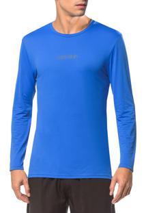 Camiseta Athletic Ck Logo Peito - Azul Médio - P