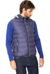 Colete Puffer Polo Wear Básico Azul