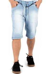 Bermuda Alfa Jeans Pro Delave - Masculino