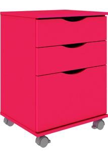 Gaveteiro Texas 2 Gavetas E 1 Gavetão Rosa Pink