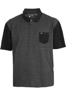Camisa Polo Hurley Oversize Basic Cinza