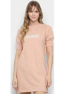 Vestido Colcci Camisetão Organic - Feminino-Rosa