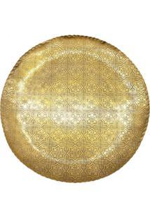 Bandeja Florida- Dourado- Ø42Cm- Celebrarcelebrar