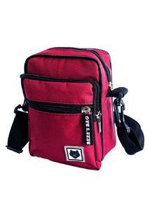 Shoulder Bag Bezz Mini Bolsa Tira Colo Necessaire Pochete Unisexx Vinho