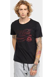 Camiseta Coca-Cola Original Formula Aroma Masculina - Masculino-Preto