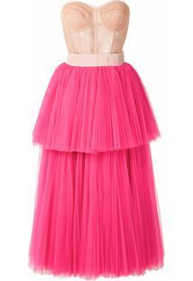 Dolce & Gabbana Vestido Midi De Tule - Rosa