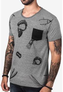 Camiseta Barber Skull 103082