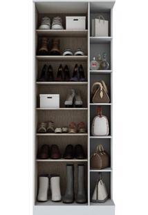 Armário Para Sapato Sapateira 1 Porta Com Espelho Branco