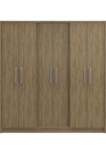 Guarda-Roupa Casal 6 Portas 3 Gavetas Diamante Decibal Moveis Wood