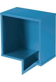 Prateleira Cartoon Quadrada Laca Azul - 27226 - Sun House