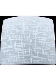 Plafon Sobrepor Quadrado Pequeno Textura Branca Attena