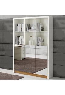 Estante Para Livros 3 Portas 120 Cm Tc611E Off White/Freijo - Dalla Costa