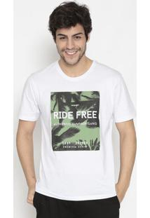 Camiseta Folhagens- Branca & Verdewrangler