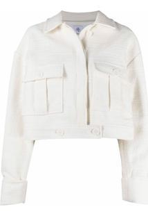 Anine Bing Jaqueta Cropped Com Textura - Branco