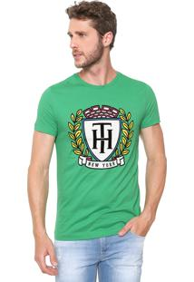 Camiseta Tommy Hilfiger Crest Verde