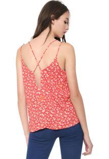 Regata Calvin Klein Jeans Ditsy Flower Vermelha