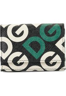 Dolce & Gabbana Carteira Com Estampa De Logo - Preto