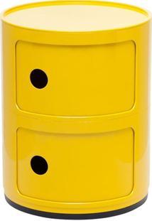 Módulo Organizador Castelli - Criado Mudo - 2 Andares - Amarelo