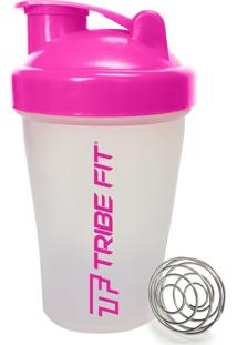 Coqueteleira Shaker Bottle Tribe Fit Importada 400Ml Rosa