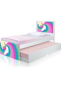 Bicama Juvenil Casah Adesivada Unicã³Rnio Arco íRis Casah - Multicolorido - Menina - Dafiti