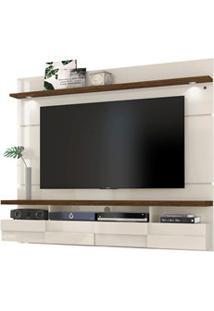Painel Bancada Suspensa Para Tv Até 60 Pol. Lana 1.8 Off White/Savana