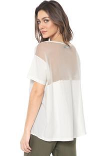 Blusa Sacada Mullet Recortes Off-White