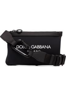 Dolce & Gabbana Pochete Com Estampa De Logo - Preto