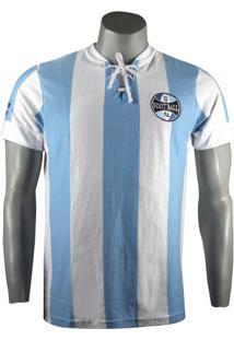 Camiseta Masculina Grêmio Retro 1917 Natural Cotton