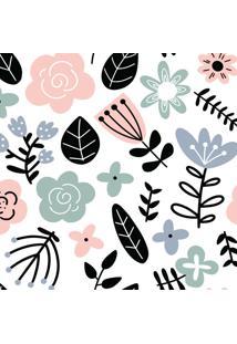 Papel De Parede Floral Escandinavo 57X270Cm - Tricae