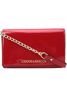 Bolsa Loucos & Santos Mini Bag Verniz Soft Feminina - Feminino-Vinho