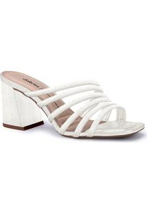 Tamanco Feminino Dakota Salto Médio Grosso Bloco Conforto Sandália Moda Fashion Lançamento Comfort Moda Brilho Atacado Revenda