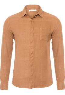 Camisa Masculina Resort - Marrom