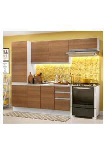 Cozinha Compacta Madesa 100% Mdf Acordes Com Armário E Balcáo Branco