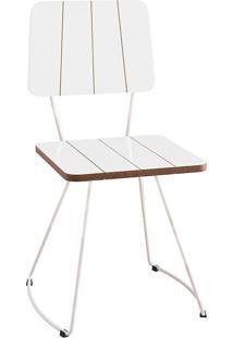 Cadeira Costela Meia Lua-Daf Mobiliário - Branco