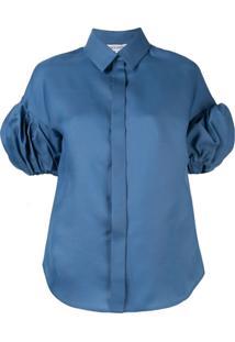 Dice Kayek Blusa Com Mangas Volumosas - Azul