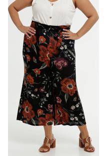 Calça Feminina Pantacourt Estampa Floral Plus Size Marisa