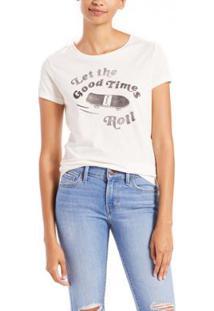 Camiseta Levis Slim Crew Neck Feminina - Feminino