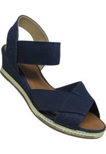 Sandália Via Scarpa Jeans London Feminina - Feminino-Marinho