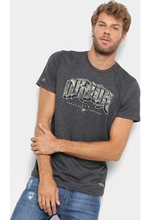 Camiseta Okdok Classic Logo Camo - Masculina - Masculino-Chumbo