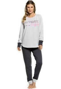 Pijama Inverno Inspirate Style Feminino - Feminino-Mescla