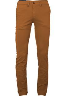 Calça Ralph Lauren Masculina De Sarja Chino Stretch Slim Fit Caramelo - 194829