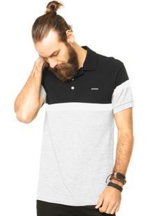 Camisa Polo Sommer Contraste Cinza