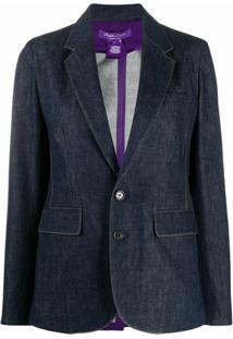 Ralph Lauren Collection Blazer Yvette Com Abotoamento Simples - Azul