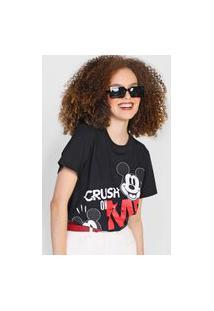 Camiseta Colcci Mickey Crush Preta